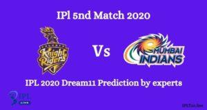 IPL 2020: KKR Vs MI IPL Dream11 Team Prediction