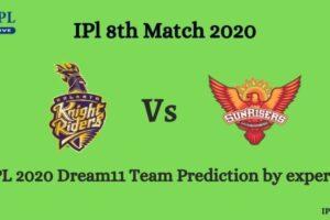 KKR Vs SRH Dream11 Team