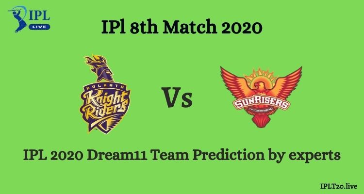 KKR Vs SRH Dream11 Team