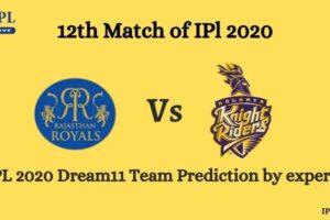 RR Vs KKR Dream11 Team