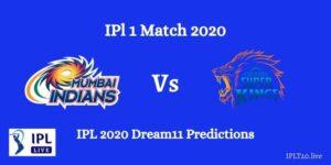 MI vs CSK IPL 2020 Dream11 Predictions – Team