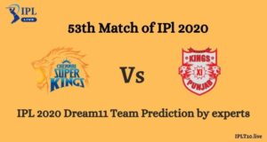 IPL 13: CSK vs KXIP Dream11 Team Prediction By