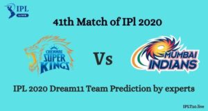 Selected By Cricket Experts For CSK vs MI Dream11