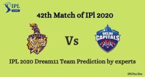 IPL 2020: KKR vs DC Dream11 Team Prediction By
