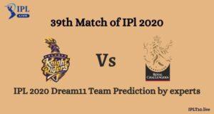 IPL 2020: KKR vs RCB Dream11 Team Prediction By