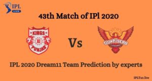 IPL Season 13: KXIP vs SRH Dream11 Team Prediction