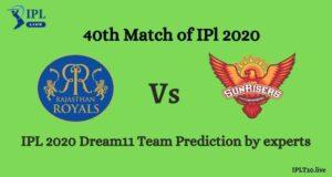 IPL 13: RR vs SRH Dream11 Team Prediction By