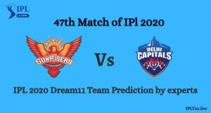 IPL 2020: SRH vs DC Dream11 Team Prediction Of