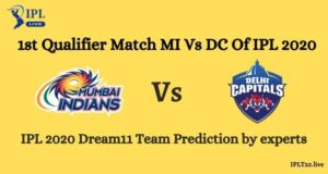 First Qualifier Match MI Vs DC Dream11 Team