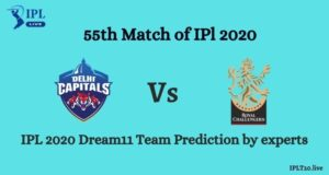 DC vs RCB Dream11 Team Prediction in IPL 2020