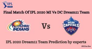 Final Match Of IPL 2020  | MI Vs