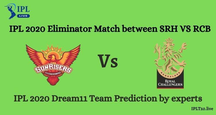 Eliminator Match SRH Vs RCB Dream11 Team