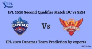 IPL 2020 Second Qualifier Match DC vs SRH Dream11